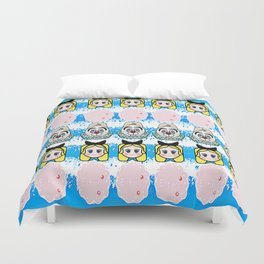 Alice and the white rabbit  Duvet Cover