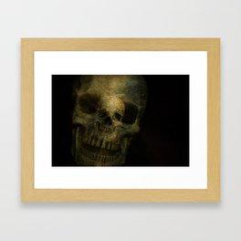 Double Exposure Skulls Photograph Framed Art Print