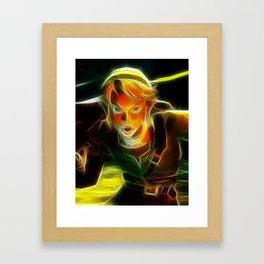 The Legend of Zelda Magical Link. Framed Art Print