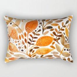 Autumn watercolor leaves Rectangular Pillow