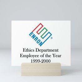 Enron ethics department satire/ parody Mini Art Print