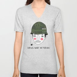 Drug War Veteran Unisex V-Neck