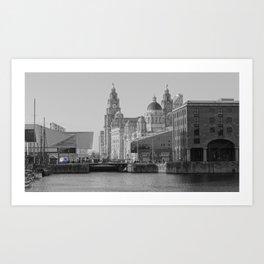 Three Graces Liverpool Art Print