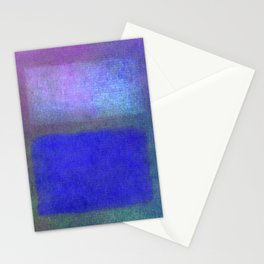 After Rothko Blue Stationery Cards