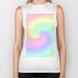 Rainbow Swirls and Stars Biker Tank