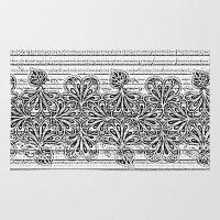 newspaper Area & Throw Rugs featuring Newspaper Stripe by Vikki Salmela