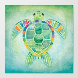 SHANTI SPARROW: Byron the Turtle Canvas Print