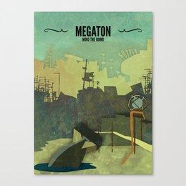 Megaton // Fallout 3 Poster, Fallout Print, Video Game Art, Gamer Print Canvas Print