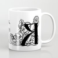 alphabet Mugs featuring Alphabet by Olya Goloveshkina