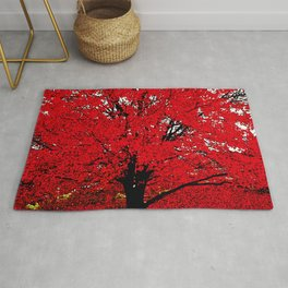TREE RED Rug
