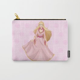 Blond Princess In Pink Yellow Dress Carry-All Pouch