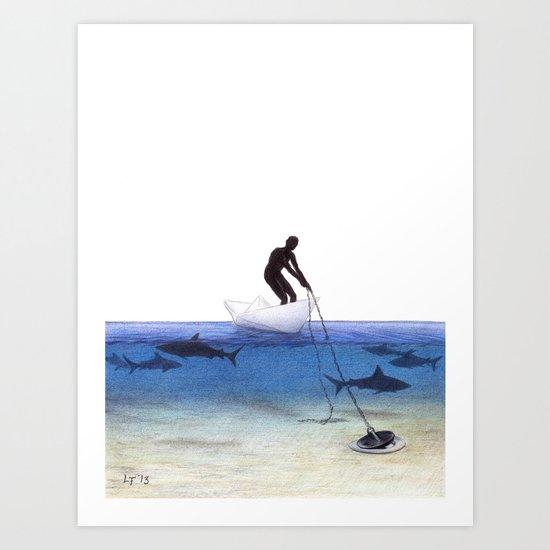 Parting Ways by Lars Furtwaengler   Colored Pencil   2013 Art Print