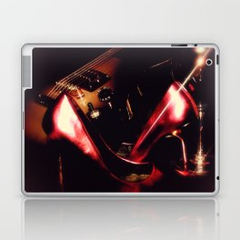After the Set red high heels wine and music Laptop & iPad Skin