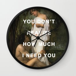I Need Idylle Wall Clock