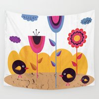 spring Wall Tapestries featuring Spring by Kakel