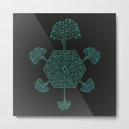 Natural Maze Metal Print
