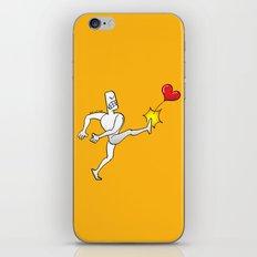 Mad Man Kicking a Heart iPhone & iPod Skin