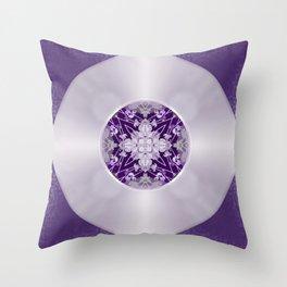 Vinyl Record Illusion in Purple Throw Pillow
