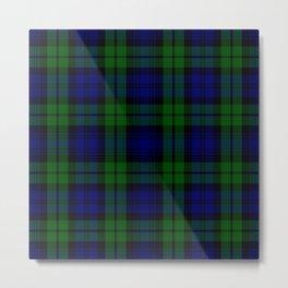 Scottish Campbell Tartan Pattern-Black Watch #1 Metal Print