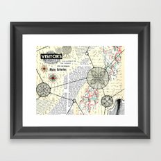 Visitors Framed Art Print