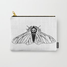 White Skull Moth Carry-All Pouch