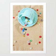 Buttons & Teacups Art Print