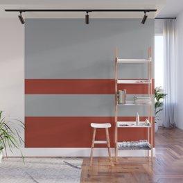 Minimal Rusted Orange & Grey Wall Mural