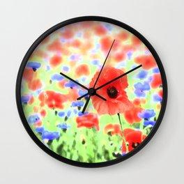 poppies art 004 Wall Clock