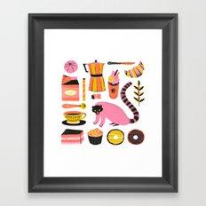 Super Coffee lovers set Framed Art Print