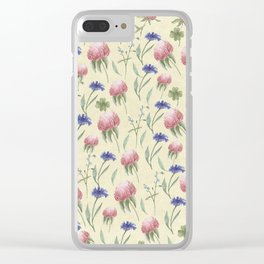 Field of Wild Flowers Clear iPhone Case