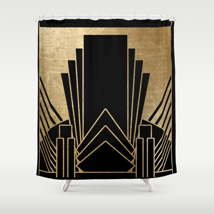 Art deco design Shower Curtain