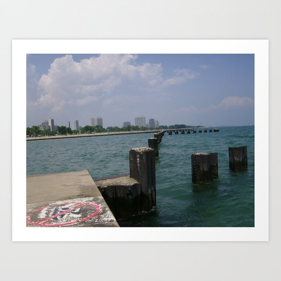 Out On The Pier Art Print