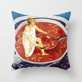 Bathing Ladies, Part 1 Throw Pillow