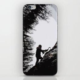 Climbers Silhouette #2 iPhone Skin