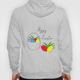 happy easter basket and eggs Hoody
