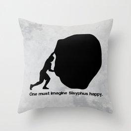 Camus - Sisyphus Throw Pillow