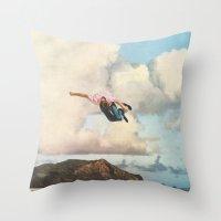 fall Throw Pillows featuring Fall by Sarah Eisenlohr