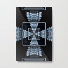 Linear Squares Metal Print