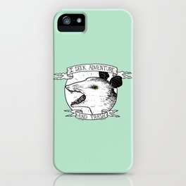 ADVENTURE AND TRASH iPhone Case