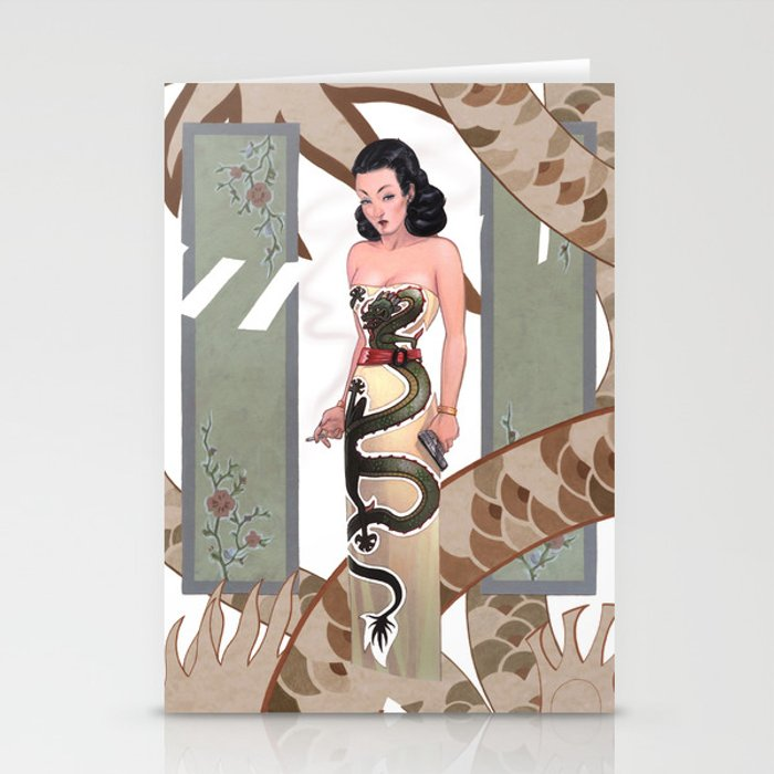 Dragon Lady Stationery Cards