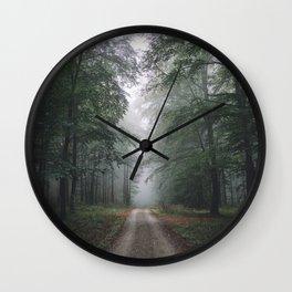 Autumn Forest Walk Wall Clock
