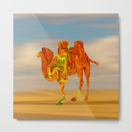 Marble Animals - Camel Metal Print