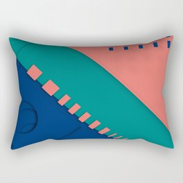Color material design, paper layers with dynamic halftones Rectangular Pillow