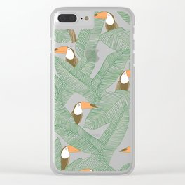 Summer With Toucan Clear iPhone Case