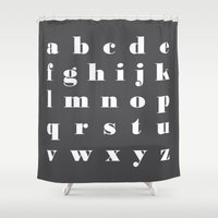 letter Shower Curtains featuring letter by FlowerZen