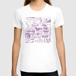 Retro Dinner - White T-shirt