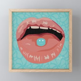 Píldoras felices Framed Mini Art Print