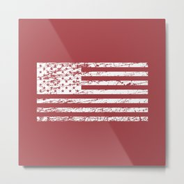 The Flag of the  USA with Rusty Effect II Metal Print