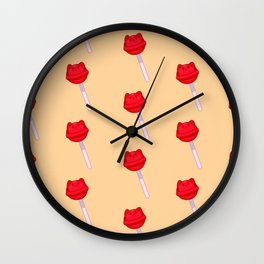 Cat Food - Lollipop Wall Clock