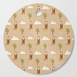 Desert full of meerkats Cutting Board
